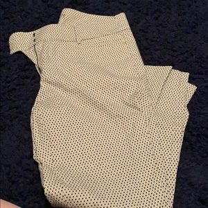 Loft polka dotted ankle work pants 6